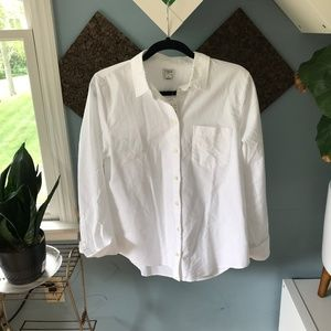 J. Crew New with Tags White Button Down